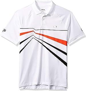 Lacoste Men's Sport Djovokic Short Sleeve Ultra Dry Geo Print Graphic Polo