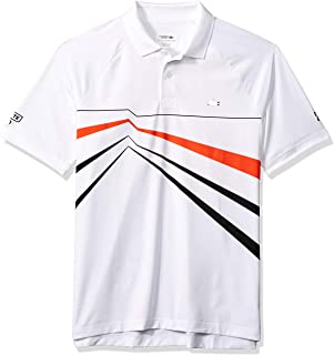 Lacoste Men's Sport Djovokic Short Sleeve Ultra Dry Geo Print Graphic Polo