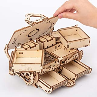3D立体パズル ジュエリーボックス木製パズルボックス組み立てクラフトキット機械モデルの知育玩具 DIY パズル 誕生日 クリスマス プレゼント ホームデコレーション パズルモデルキット