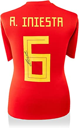 665bdff30 Andres Iniesta Spain Autographed 2018 Adidas Red Jersey - ICONS - Fanatics  Authentic Certified - Autographed