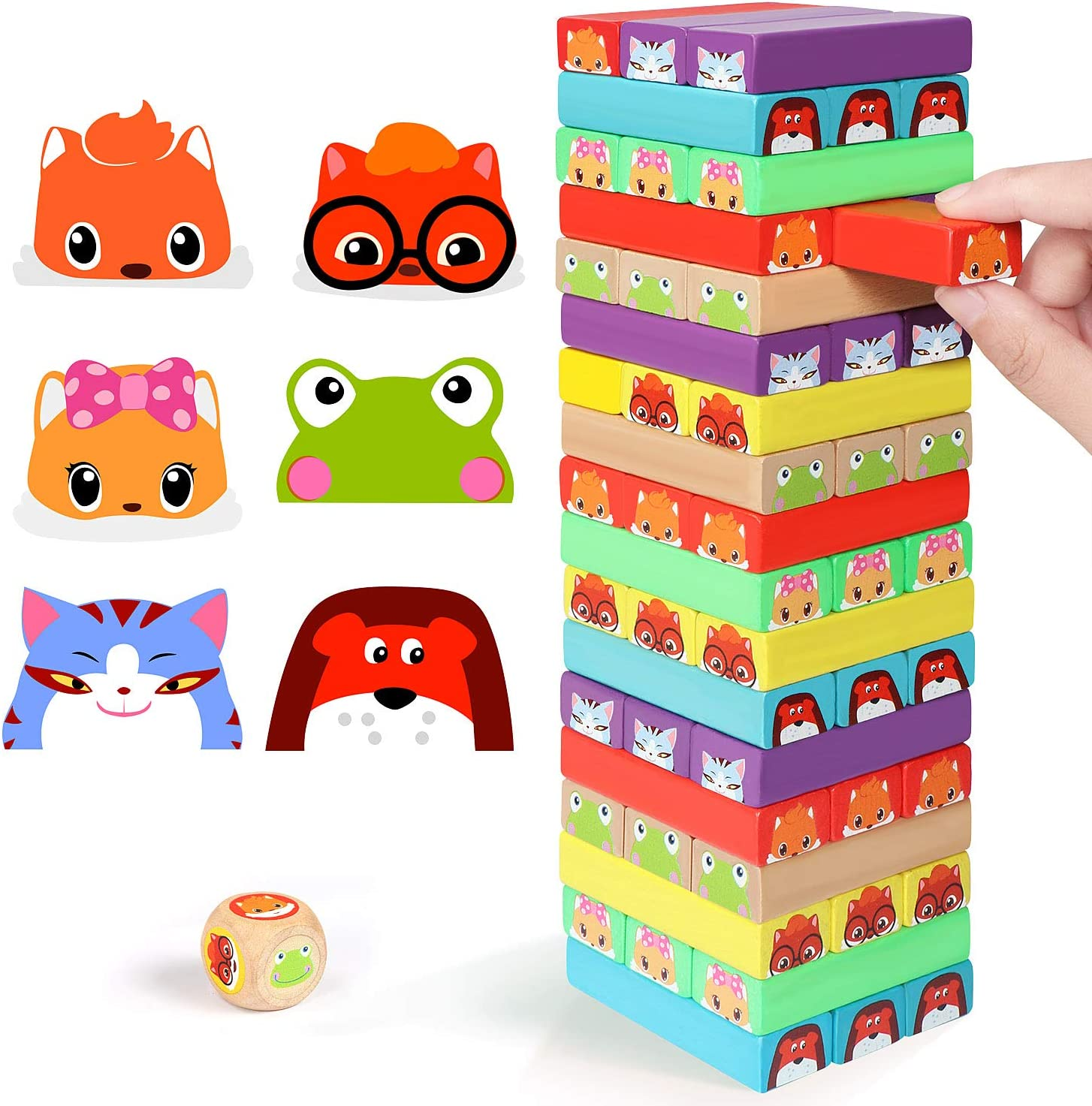 Lewo Colored Stacking Game Wooden NEW before selling ☆ Building BlocksTower Board Al sold out. Gam