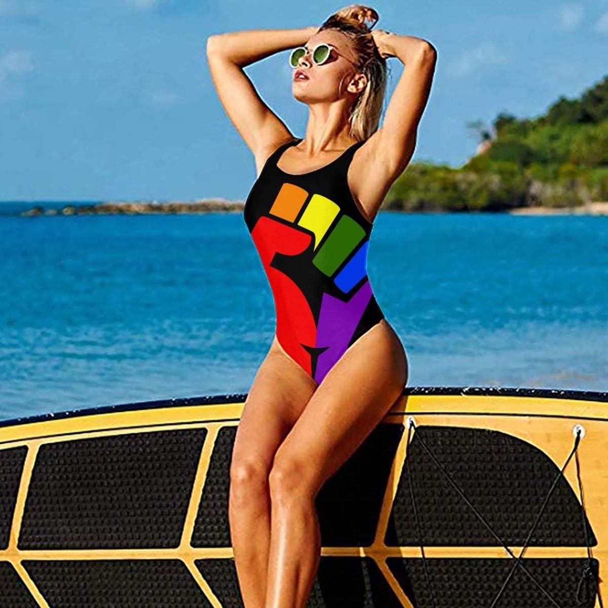 ZHXR Rhodes Island State Flag Womens One Piece Swimsuits for Athletic Swimwear Bikini