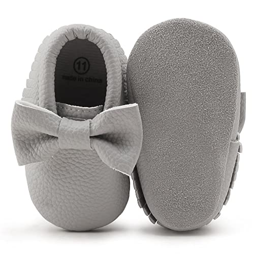 ed1a27ef22057 OOSAKU Infant Toddler Baby Soft Sole PU Leather Bowknots Shoes