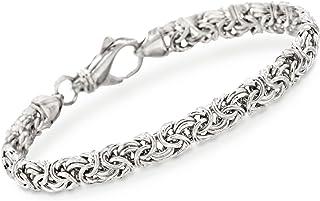 Ross-Simons Ross-Simons 925 Sterling Silver Handmade Byzantine Bracelet, 9.5 Gram Weight