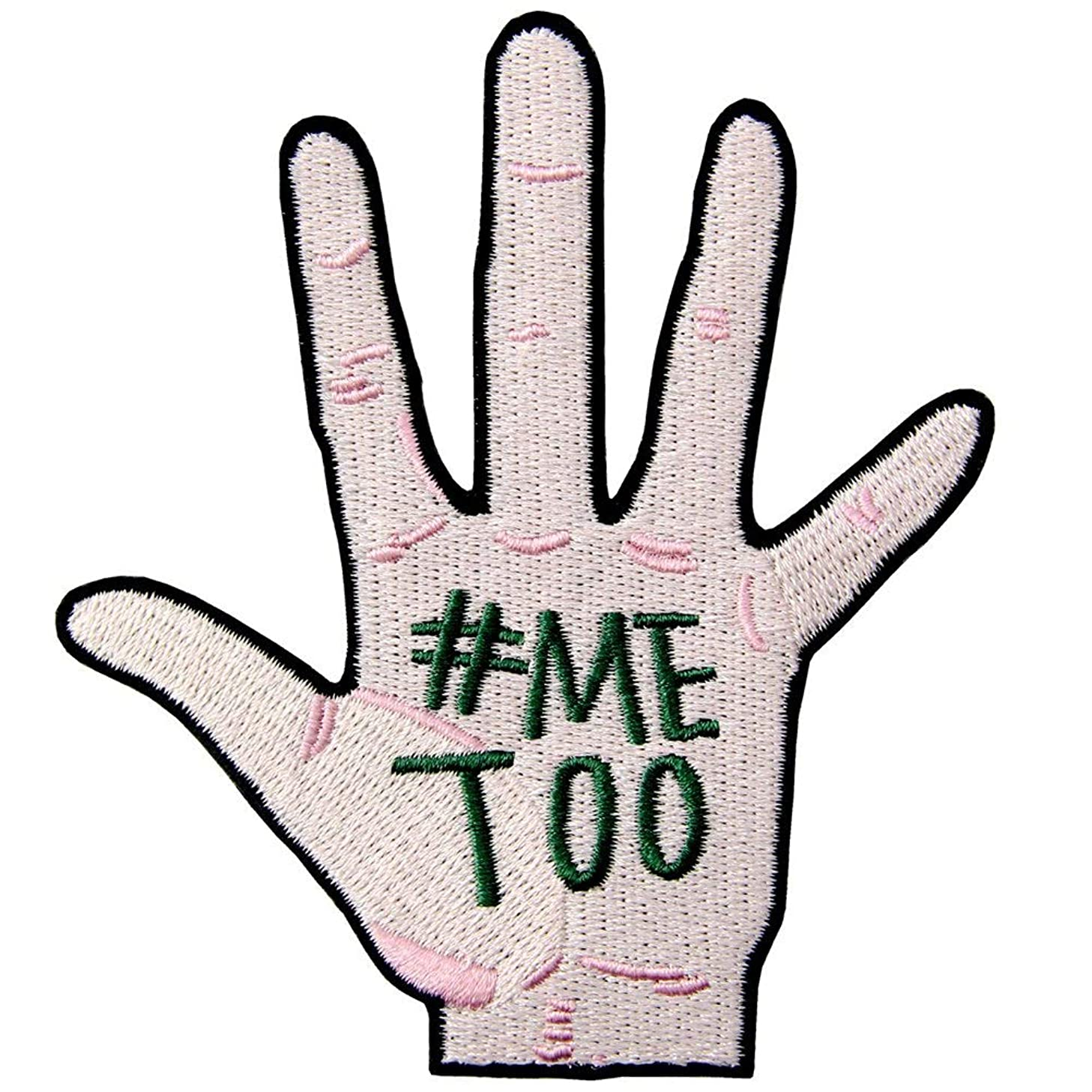#MeToo Movement Patch Against Sexual Harassment and Assault Patch Embroidered Badge Iron On Sew On Emblem