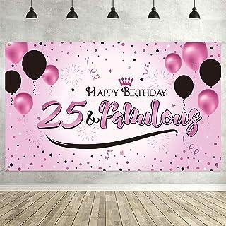 Banner de fondo cumpleaños,Suministros de decoración de pancartas de fondo,Banner de fondo para fiesta de cumpleaños,Sumin...