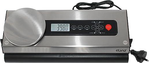 Elinz Stainless Steel Food Vacuum Sealer Bags Packaging Saver Kitchen Weighing Scale Storage Machine Free Bag Rolls Powerful Piston Pump SAA Approved