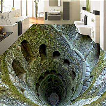 3d Stereo Super Schock Mine Boden Malerei Wandbild Fototapete Wohnzimmer Badezimmer Pvc Wasserdicht 250 175 Cm Amazon De Baumarkt