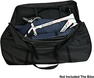 Topnaca MTB Soft Mountain Road Bikes Travel Case Transport Bag Wheel Carry Bag Bicycle Carrying Case with Fork Protector for Outdoor Airplane