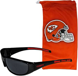 NFL Kansas City Chiefs Adult Sunglass and Bag Set, Red