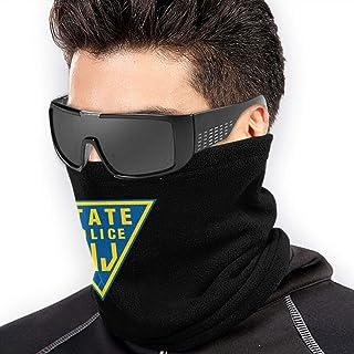 Men Women New Jersey State Police Neck Gaiter Warmer Graphic Ski Tube Scarf for Head Wrap Black