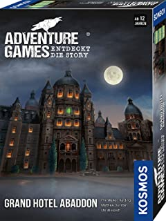 KOSMOS 693190 Adventure Games – Grand Hotel Abaddon. Upptäck Story, samarbetsspel för 1 till 4 spelare från 12 år, spännan...