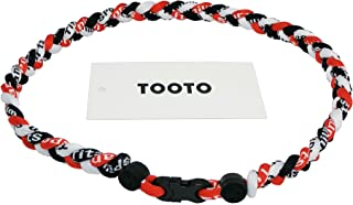 Sport Style Tornado Titanium Necklace Three Colors Braided Rope Baseball Necklace-20 Length