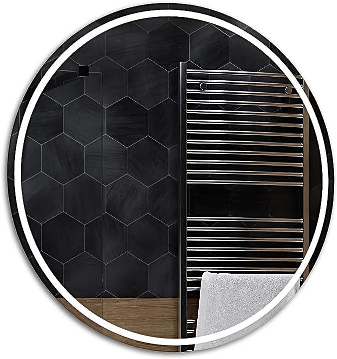 Specchio rotondo led deluxe controluce led | london - alasta B07SGFKVMK
