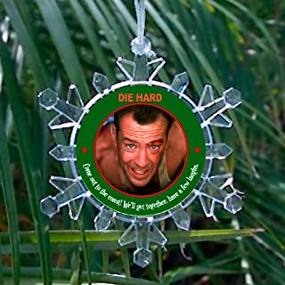Die Hard John McClane Blinking Holiday Christmas Snowflake Tree Ornament