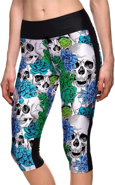 1badcb31 2019 Halloween Yoga Pants Exercise Skull Print Leggings Female ...