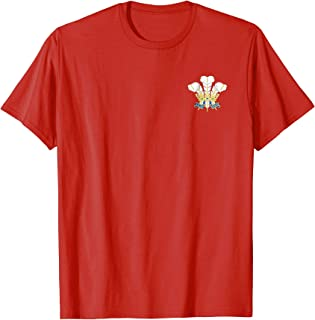 Vintage Style Wales Rugby T shirt- Classic crest rugby shirt