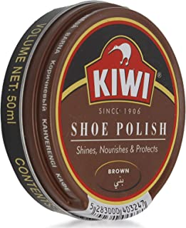 Kiwi Wax Shoe Polish - Brown, 50 ml