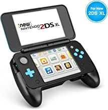 TNP New Nintendo 2DS XL Hand Grip - Protective Cover Skin Rubber Controller Grip Case Ergonomic Comfort Anti Slip Handle Console Grip with Kick-Stand for New Nintendo 2DS XL LL 2017 Model