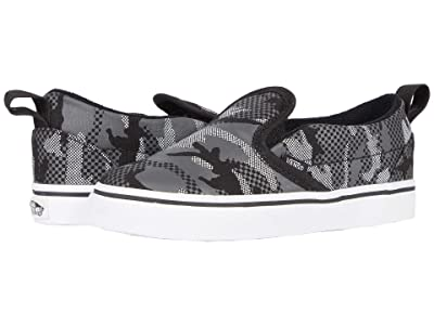 Vans Kids Slip-On V (Infant/Toddler) ((Pattern Camo) Black/True White) Boys Shoes