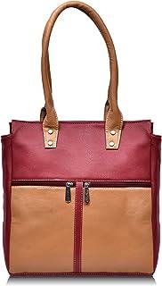 Fristo Maroon and Cream women handbag(FRB-140) Maroon and Cream