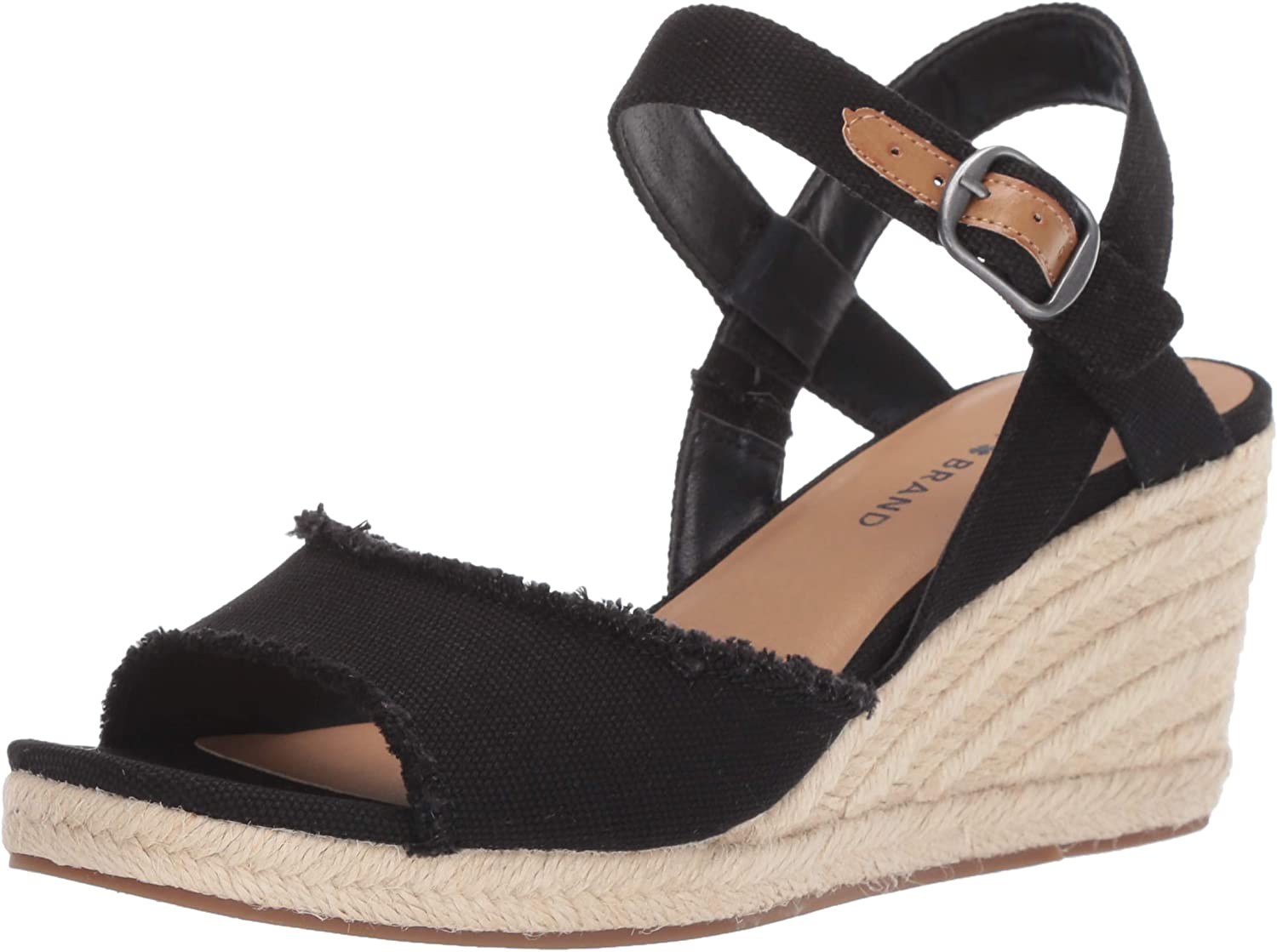 Lucky Brand Women's Mindra Popular shop is the lowest price challenge Wedge Sandal Espadrille Branded goods