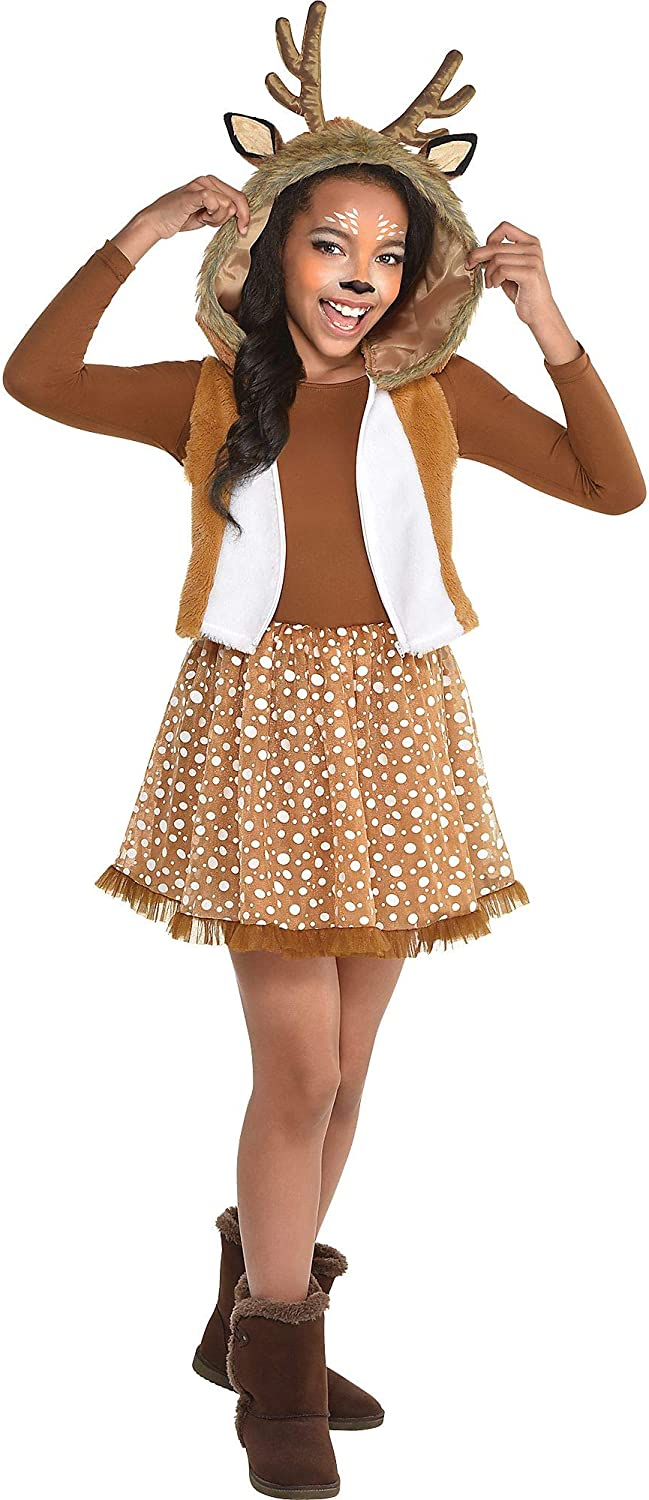 Amscan National products Oh Deer Halloween San Antonio Mall Costume Girls Hood Antl Attached for