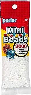 White Perler Mini Beads for Kids Crafts, 2000 pcs