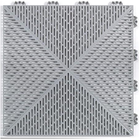 Mats Inc Bergo Unique Floor Tiles 14 9 X 14 9 Gray Home Kitchen