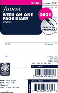 Filofax Pocket Week per Page English 2021 Diary