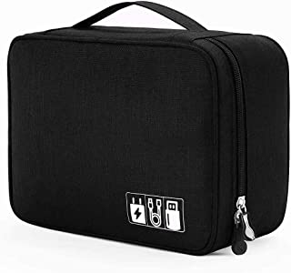 House of Quirk Electronics Accessories Organizer Bag, Universal Carry Travel Gadget Bag for Cables, Plug and More, Perfect...