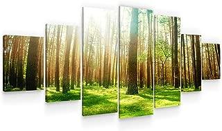 Startonight Grande Cuadro Moderno en Lienzo - Primavera en el Bosque - Pintura Árboles para Salon XXL Decoración 7 Piezas 100 x 240 CM