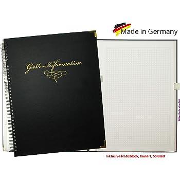 Weinrot MJ-Design-Germany Made in EU in verschiedenen Farben Informationsmappe DIN A 4 mit 12 F/ächer Folien/öffnung oben und seitlich