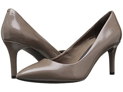 Rockport Plain Pump (Taupe Grey Pearl Patent) Women