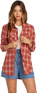 Women's Getting Rad Plaid Long Sleeve Flannel Shirt
