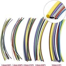 ZYAMY 55 pcs 2:1 Heat Shrink Tube Assortment Set 5 Sizes 11 Colors Flame Retardant Sleeving Wire Wrap Car Electrical Cable Tubing Kit