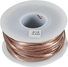 JSC Wire Speaker Wire Cable 24 AWG Clear 100 ft. USA