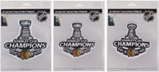 2010, 2013 & 2015 Stanley Cup Finals Champions Patch Chicago Blackhawks Lot of three