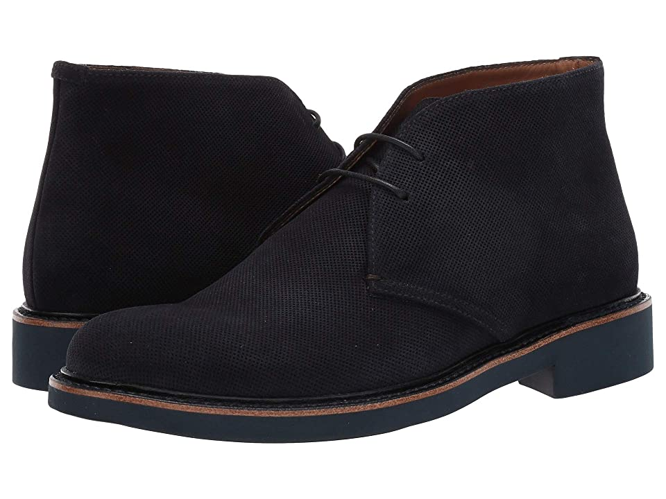 Giorgio Armani Microholes Oxford (Blue) Men's Shoes