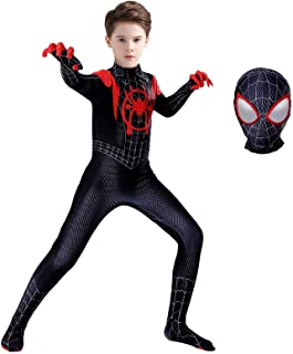 Superhero Costume Bodysuit for Kids Spandex Zentai Halloween Cosplay Jumpsuit 3D Style