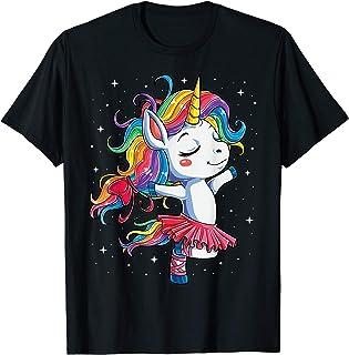 2beef405fc22 Ballet Dancer Unicorn T shirt Kids Girls Rainbow Ballerina