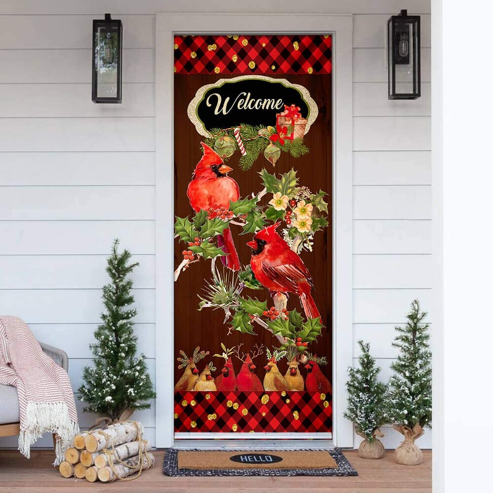 FLAGWIX Door Super Special SALE held Covers Printed-Welcome Home Cardinal Christmas 4 years warranty