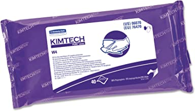 Kimtech 06070 W4 PreSat Alcohol Wipers, 70% IPA, 9 x 11, White, 40 per Pack (Case of 10)