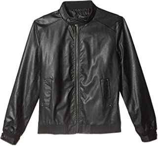 Zip Up Faux Leather Jacket For Men