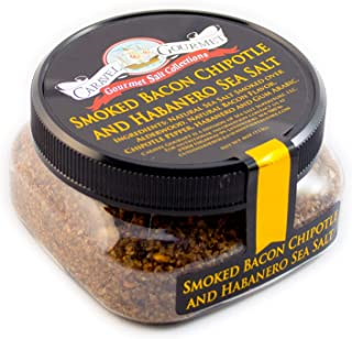 Smoked Bacon Chipotle & Habanero - Spicy Hot Sea Salt - Fine Grain - 4 Oz Stackable Jar