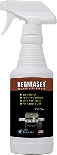 Degreaser - All-Purpose Heavy Duty Bio-Natural Unscented Cleaner Safe for BBQ Griller Kitchen Appliances Countertop Cabinets Shower Garage Driveway and Automotive (16oz)
