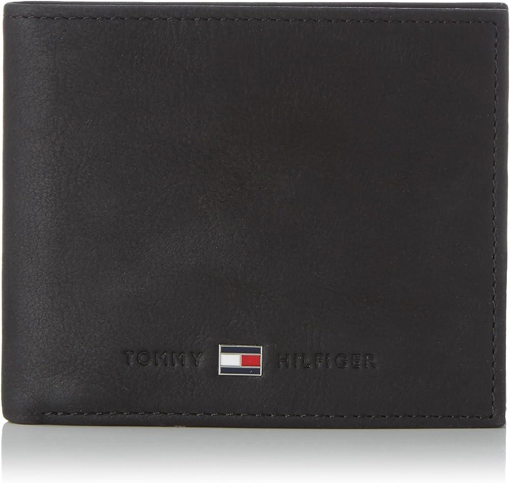 Tommy hilfiger, portafoglio con portacarte di credito,in vera pelle AM0AM00663