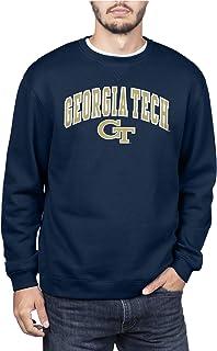 NCAA Georgia Tech Men's Team Color Crewneck Sweatshirt, Georgia Tech Navy, Small