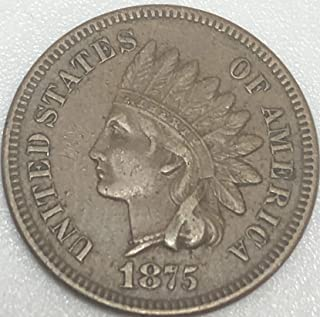 1875 P Indian head Beautiful Wild West ERA Penny Cent Extremely Fine EF-40 Condition