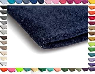 0,5m polarfleece azul oscuro suave tela polar METERWARE mützenfutter chaquetas forraje